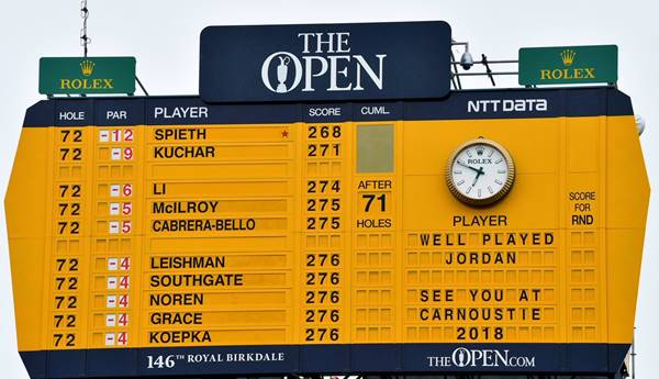 The Open 2018 carnoustie