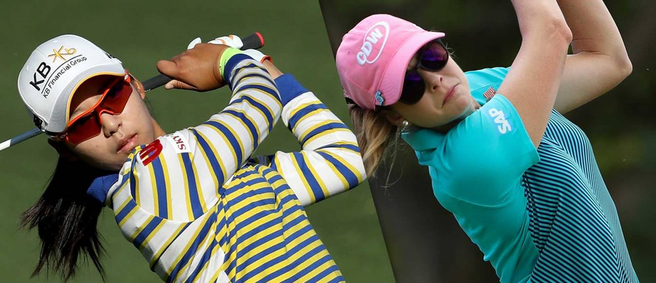 Mi Hyang Lee y Paula Creamer Lotto champ dia 1