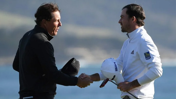 Nick Taylor AT&TPebble Beach Pro Am 2020 y Phil Mikckelson